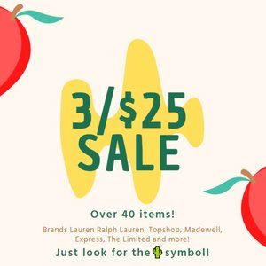Other - 3/$25 Sale Happening Now!